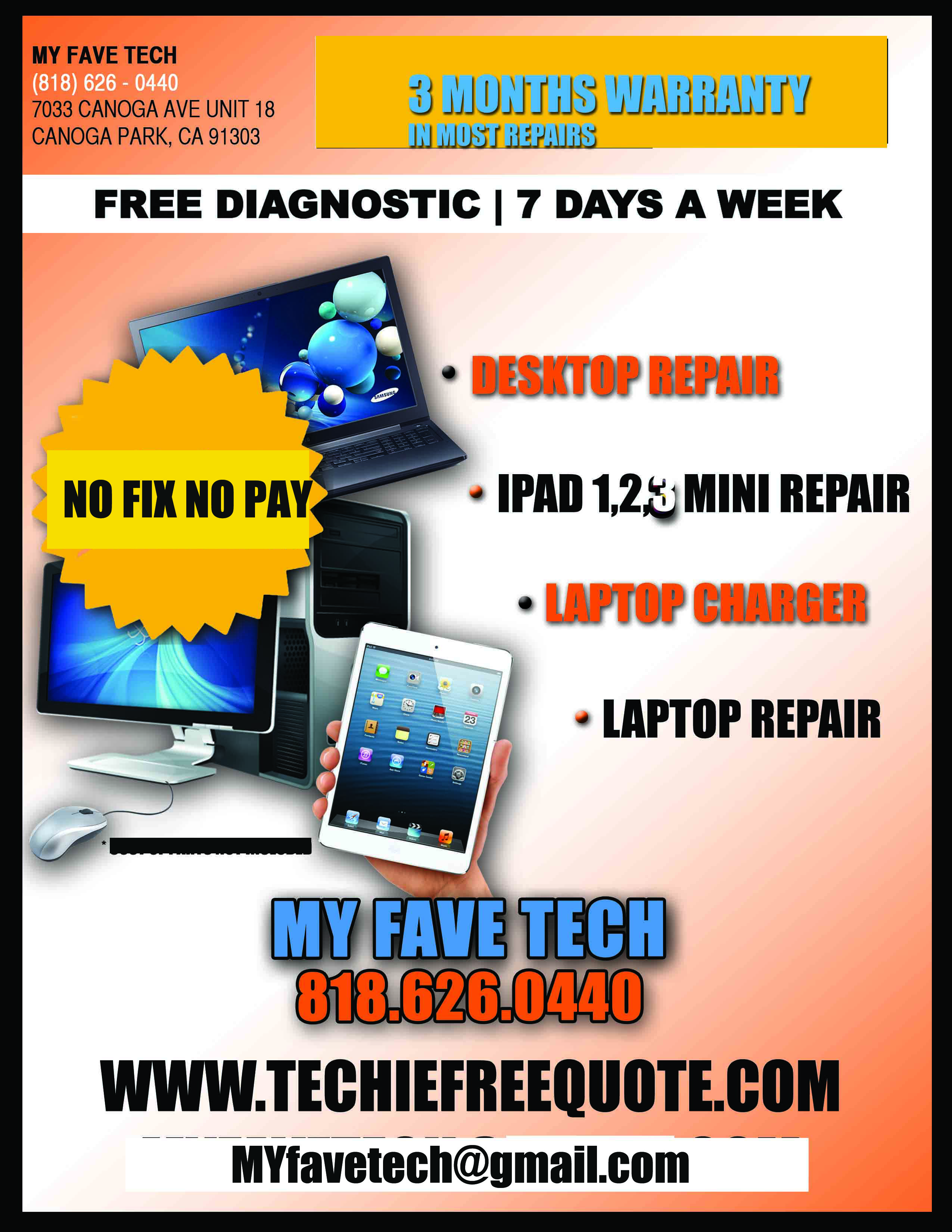 PC REPAIR FLYER